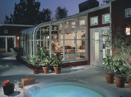 Curved Eave Solarium in Northern VA